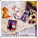 (^O^)/大人気!!原宿ガール*,.・.,*~~窓辺ネコのオシャレなフェルトブローチ!*.,・.,*~~2カラ—
