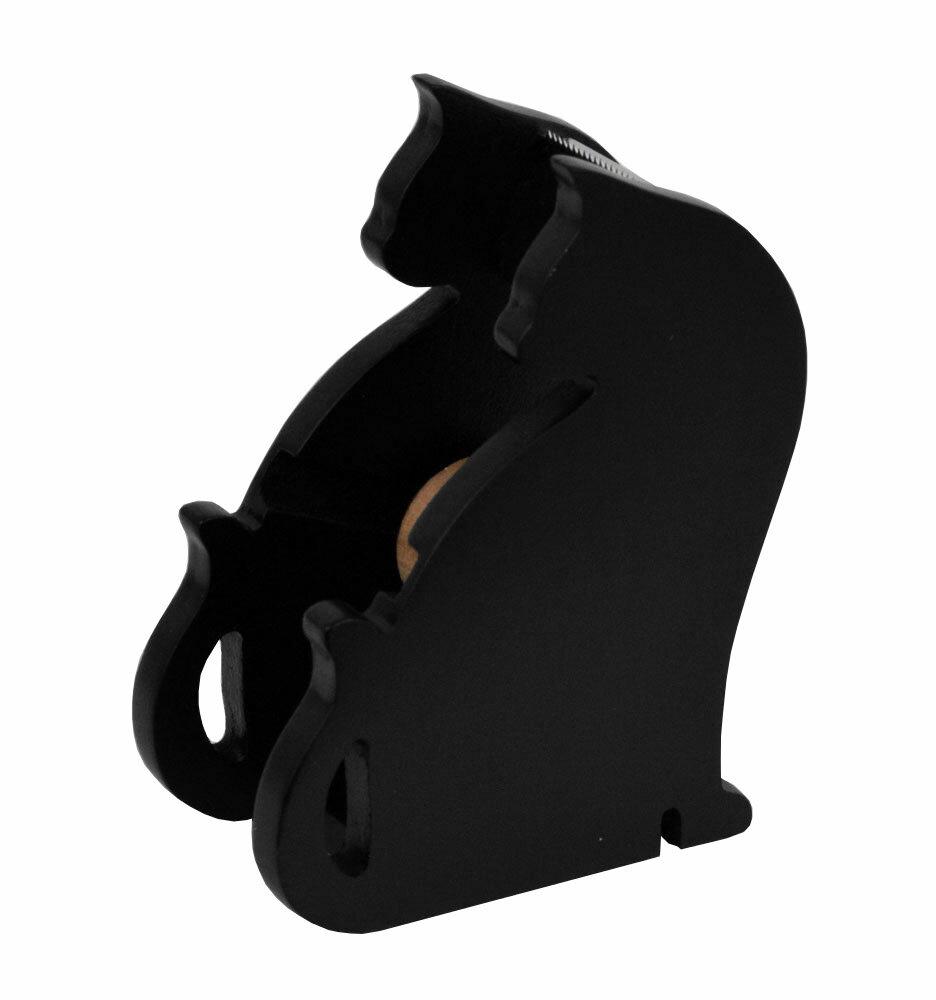 ☆彡黒猫さんのテープカッタースタンド,.,.,.振り向きタイプ