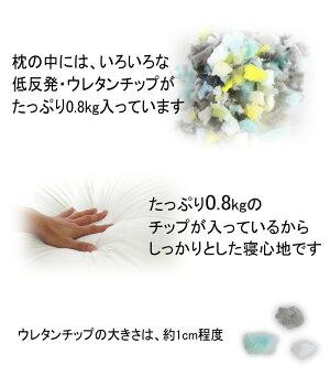 ★低反発・ウレタンチップ枕中PLMD-0221[まくらウレタン低反発]