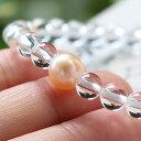 【10%クーポン+全品P2倍!】淡水パール 数珠ブレスレット 約6ミリ 本水晶 淡水パール(ピンク)107060092【メール便なら送料199円】