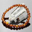 数珠ブレスレット 約6mm 琥珀【腕輪念珠 こはく アンバー 天然石 女性用 レディース オレンジ 6ミリ IM 107060048】【送料無料】