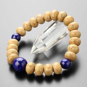 数珠 ブレスレット 約8×11.5ミリ 天竺菩提樹 ラピスラズリ【腕輪念珠/天然石/パワーストーン/9月の誕生石/107000311】【送料・・・