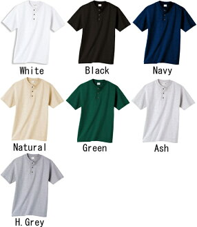 7.1 OZ. Heavyweight plain fabric henley neck T-shirt 100%cotton