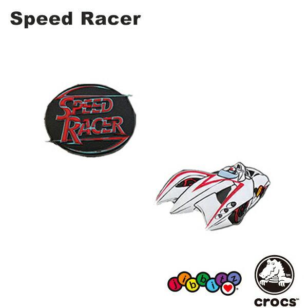 【メール便可】クロックス(CROCS)ジビッツ(jibbitz) スピード レーサー(Speed Racer) /クロックス/シューズアクセサリー/キャラクター/[YEL]【楽ギフ_包装選択】[AA]