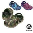 【送料無料】クロックス(CROCS) クラシック ラインド グラフィック クロッグ キッズ(classic lined graphic clog kids) サ...