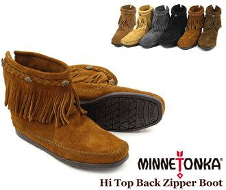 MINNETONKA Hi Top Back Zipper Boot Minnetonka Hi-top back zipper suede boots (292-293 - 297 - 299-29