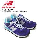 【送料無料】ニュー バランス(New Balance)W574/574 ランニング スニーカー ≪WL574CPH/Purple with Turquoise & White≫シューズ/レディース/女