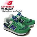 【送料無料】ニュー バランス(New Balance)WL574/574 Summit ランニング スニーカー ≪WL574SMC/Spring Green with Pacific≫シューズ/レディ