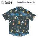 リップンディップ(RIPNDIP)Scuba Nerm Button Up《Black》半袖シャツ/トップス/メンズ [BB]