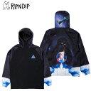 リップンディップ(RIPNDIP) Galaxy Gypsy Anorak 《Black》 アノラック ジャケット/アウター/男性用/メンズ 送料無料 [BB]