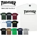 【着後レビューで100円クーポンプレゼント】【メール便可】スラッシャー (THRASHER)MAG LOGO Tee S/SL (TH8101) メンズ 半袖 Tシャツ【楽ギフ_包装選択】