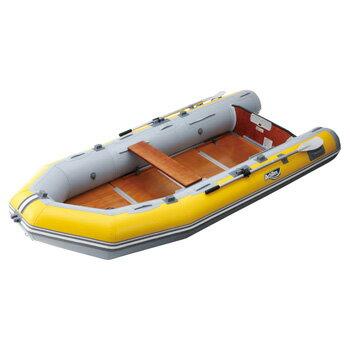 FMR-505 ウッドフロア イエロー/ライトグレー 5人乗り ゴムボート アキレス