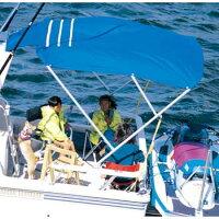 REGAR(リガー) アフトデッキオーニング (ジョイントシート&アルミレール付) L-1 ビミニトップ オーニング ボートの画像