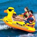 トーイングチューブ WOW/ワオ 2人乗り ダブルダッキー バナナボート ウォータートイ 浮き輪 アヒル 空気注入式 水上バイク ジェット ボード 牽引