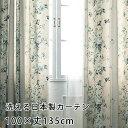 【無料サンプルあり】カーテン 既製カーテン YESカーテン BA6057(約)幅100×丈135cm[片開き] ウォッシャブル 日本製 洗える 国産 タッセル フック ナチュラル 形態安定 おしゃれ アスワン neore