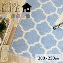 RoomClip商品情報 - ラグ ラグマット カーペット 絨毯 モロッカン柄 送料無料 グリーン 洗える HOT床暖房対応 北欧 デザイン 大人かわいい ナチュラル エリプス/200×250cm グレー グリーン neore