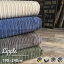 maison de rave リップル/190×240cm ラグ ラグマット マット カーペット 絨毯 じゅうたん おしゃれ フランネル 洗える コーデュロイ風 グリーン 床暖房対応 滑りにくい 北欧 neore