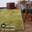 RoomClip商品情報 - ラグ ラグマット カーペット 絨毯 じゅうたん EXマイクロセレクト/190×190cm おしゃれ 洗える 滑りにくい オールシーズン 床暖房・HOTカーペット対応 グリーン 北欧 リビング neore