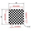 【 渋谷光学 ガラスキャリブレーションプレート (No.CBC01-50RL) 】反射型、光沢、外形60 x 60