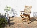 チーク天然木 ワイドラウンドテーブルガーデンファニチャー Abelia アベリア ガーデンチェア 2脚組 肘有 カーデン家具 椅子 いす 折りたたみ コンパクト収納 高級木材 おしゃれ カフェ 庭 テラス 北欧