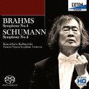 作曲家名: Ka行 - ブラームス: 交響曲 第4番&シューマン: 交響曲第4番 [HQ-Hybrid CD][SACD] / 小林研一郎 (指揮)/読売日本交響楽団