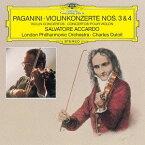 パガニーニ: ヴァイオリン協奏曲第3番、第4番[CD] / サルヴァトーレ・アッカルド (ヴァイオリン)、シャルル・デュトワ (指揮)/ロンドン・フィルハーモニー管弦楽団