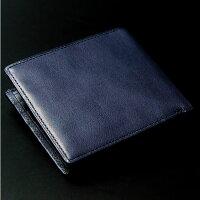 日本製二つ折り財布メンズ小銭入れなしレザー革本革やわらかい牛革二つ折り財布男性用紳士用