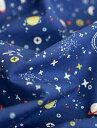 生地 布 【 コットン 】アクロス・ザ・ユニバース(抗菌防臭加工) 【 手作り 手芸 宇宙 男の子 】