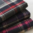 【 ウール混生地 】ウール紡毛チェック3色(生地巾150cm)【 あす楽 】