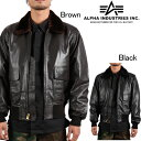 Alpha Industries G-1 Leather Flight Jacket アルファ ミリタリー フライトジャケット MLG21210P1 レザージャケット ds-Y
