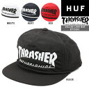 HUF Thrasher Collab Logo Hat ハフ スラッシャー スナップバック コラボレーション ロゴ 帽子 キャップ コラボ