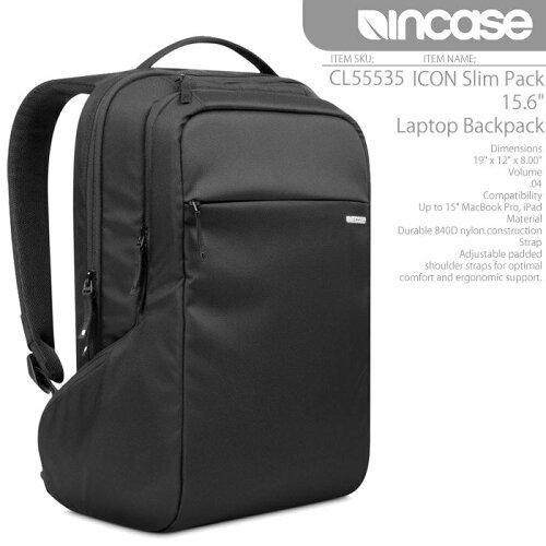 "INCASEICONSlimPack15.6""LaptopBackpackCL55535インケースバックパックバッグリュックMacbookAIRiPad"