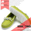 MINNETONKA CLOUD BOAT MOC WITH WHITE SOLE & LACE 519S LIME ミネトンカ クラウドボートモック ホワイトソール モカシン ds-Y