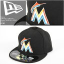 NEWERA 2016 ON-FIELD 59FIFTY Miami MARLINS HOME ニューエラ オーセンティック マイアミ マーリンズ 帽子 キャップ MLB メジャーリーグ ベースボール