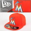 NEWERA 2016 ON-FIELD 59FIFTY Miami MARLINS ROAD ニューエラ オーセンティック マイアミ マーリンズ 帽子 キャップ MLB メジャーリーグ ベースボール