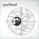 RoomClip商品情報 - Archie's Press Portland ポートランド シティマップ ポスター ブラック&ホワイト 44.5cm角 ポートランド USA