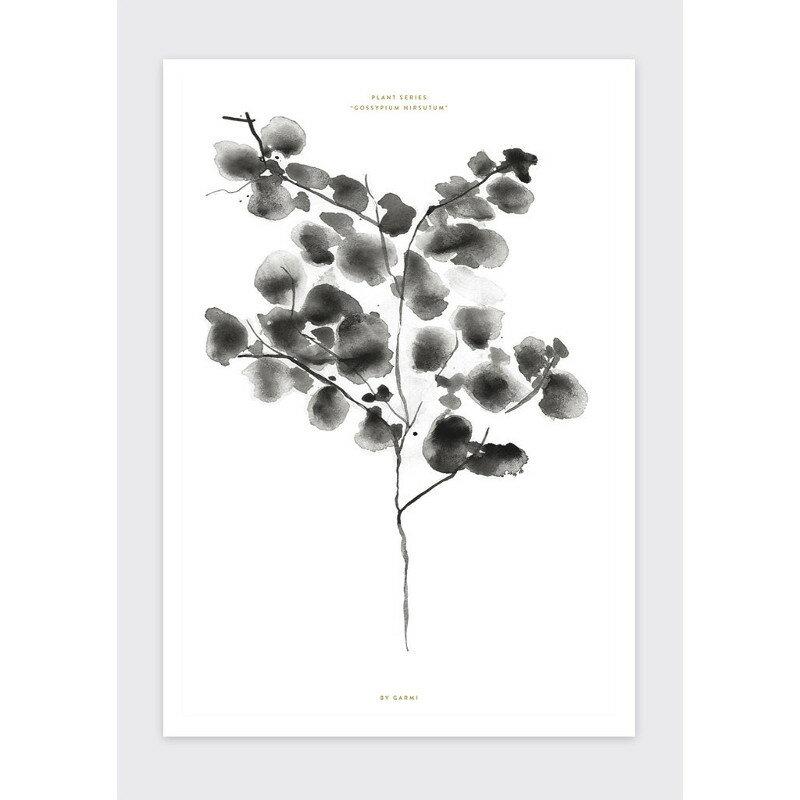 BY GARMI コットンツリー ブラック アートプリントポスター A3 北欧 デンマーク