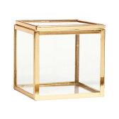 【ハロウィーン割引クーポン対象商品】【売りつくし!】H&M HOME ゴールドフレーム グラスボックス 北欧 スウェーデン