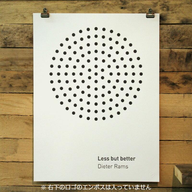 HOLSTEE Less but better アートポスター 男前フレーム付き ホワイト A2変形 モノクロ ホルスティー NY ブルックリン