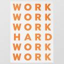 WORK HARD ポスター 70x100 Playtype プレイタイプ 北欧 デンマーク