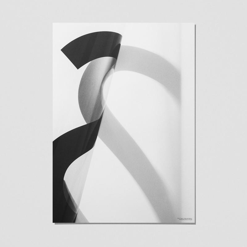 【ハロウィーン割引クーポン対象商品】【生産終了・在庫限り・値下げしました】SHY アルファベットポスター「S」 モノクロ Playtype プレイタイプ 北欧 デンマーク