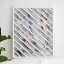 【ポイント10倍!イーグルス感謝祭期間中】Silke Bonde 「Stripe/ストライプ」 40x50 アートポスター 北欧 デンマーク