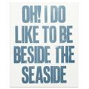 Beside the Seaside アートポスター The Lepolas イギリス