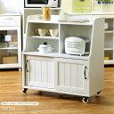 キッチンワゴン retroa レトロア rta-9085w食器棚 カップボード ワゴン キッチンカウンター キッチンキャビネット キッチン収納 収納 収納家具 キャスター付き 木製 おしゃれ アンティーク ヴィンテージ フレンチ カントリー 調 白 新生活 10P03Dec16 net-c5
