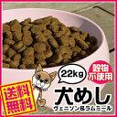 【在庫限り】犬めし ヴェニソン&ラムミール 穀物不使用 (グレインフリー) 全犬種・全ステージ対応 22kg ブリーダーパック