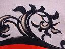 和服 - 綴れ唐草模様織出し名古屋帯【アンティーク】【中古】