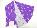 襷に桜模様織出し単衣浴衣帯(日本製)(紫)【新品】