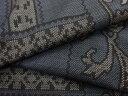 幾何学に唐花模様織り出し本場泥大島紬着物(5マルキ)【リサイクル】【中古】