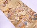 十二単に時代人物風景模様織出し袋帯【リサイクル】【中古】