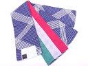 夏あそび 横段に襷模様織出し長尺半幅帯(日本製)(400センチ)【新品】(natsuk)